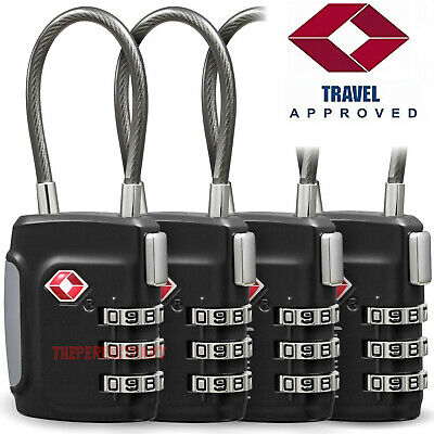 TSA Approve Luggage Travel Suitcase Bag Lock [3 Digit Combination] Padlock Reset
