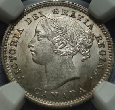 "1885 Canada VICTORIA 10¢ Graded ""NGC MS62"" >Very RARE in BRILLIANT UNCIRCULATED"