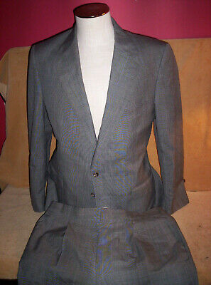 Ralph Lauren Polo University Club Jacket 39R Pants 34 x 31 Gray Glen Plaid Suit