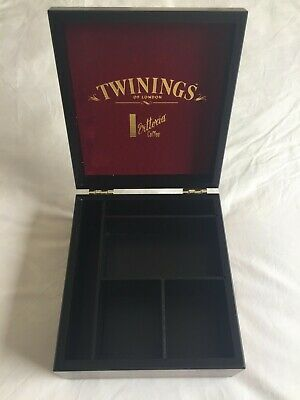 MODERN Twinings & Vittoria Wooden Tea Coffee Presentation Display Storage Box