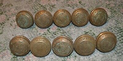 5 Antique Pairs East Lake Victorian Solid Brass Door knobs 10 knobs total