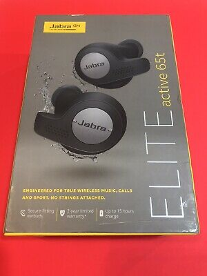 Jabra Elite Active 65t Black True Wireless Earbuds (opened Box To Test And In)
