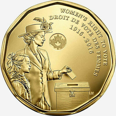 2016 Canada Womens right to vote $1 Loon  dollar brilliant uncirculated-sealed