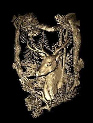 Deer panno relief 3d model relief for cnc in STL file