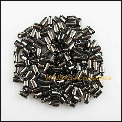 20 New Gold Dull Silver Plated Connectors Double-Speaker Tube Bead Caps 8.5x11mm