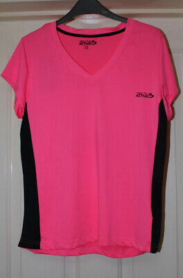 Miss Fiori Active Size 14 Hot Pink Running Exercise Top New