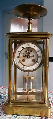 French Four Glass Visible Escapement Mercury Pendulem  G.W.O.