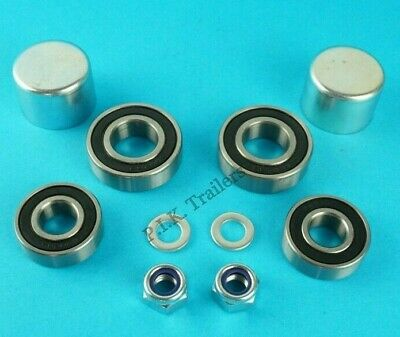 1 Axle Wheel Bearing Kit Dust Caps Nut Washer Daxara Trailer 106 107 127 #KIT125