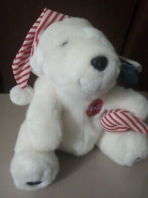Vintage Coca Cola plush Christmas bear