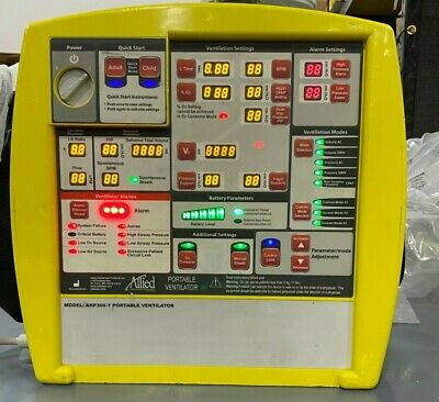 Allied Healthcare AHP300 Yellow Portable Breathing Transport Ventilator