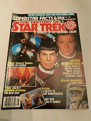 1993 The History Of Star Trek Superstar Facts & Pic Magazine Number 28