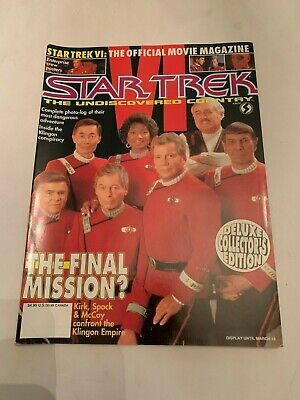1991 The Official Star Trek VI: The Undiscovered Country Movie Magazine