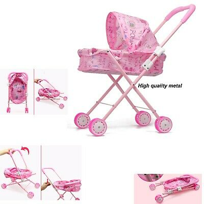 Baby Kids child Dolls Buggy Stroller Jogger Dolls Pram Pushchair Girls Toy UK