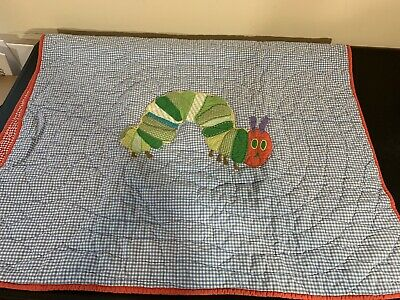 Very Hungry Caterpillar Crib Quilt Blanket Pottery Barn Kids 2013 Eric Carle