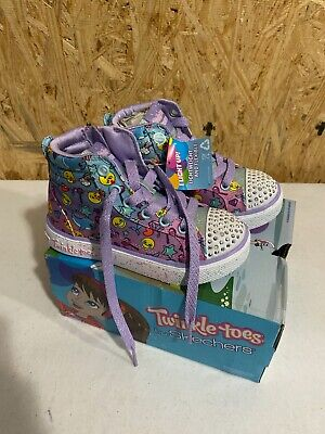 Twinkle Toes Skechers Sparkles & Smiles Girls Size 4 Multi Color Shoes