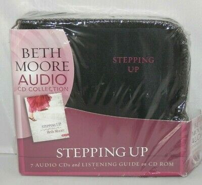 Beth Moore Stepping Up - 7 Audio CDs - Listening Guide - Bible Study - NEW