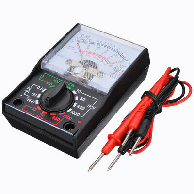 Analogue Multimeter AC DC Volts Ohm. Electrical Circuit Multi Tester Tool US