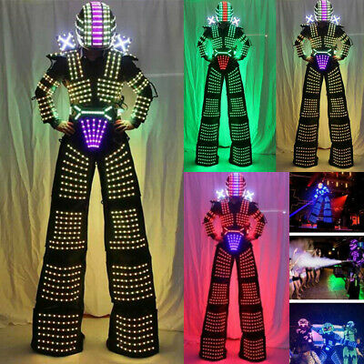 LED Robot Costume Suit Illuminated Party Night Cool Crazy Night Lights Clothes