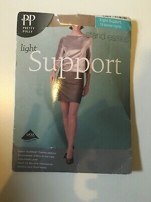 PRETTY POLLY STAND EASIES SUPPORT TIGHTS Colour FAWN Size SMALL