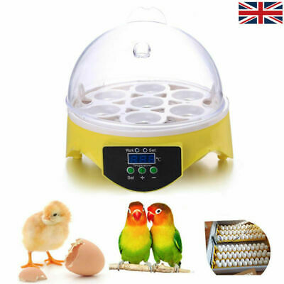 7 Egg Incubator Semi-Automatic Mini Poultry Digital Clear Egg Incubator Hatcher
