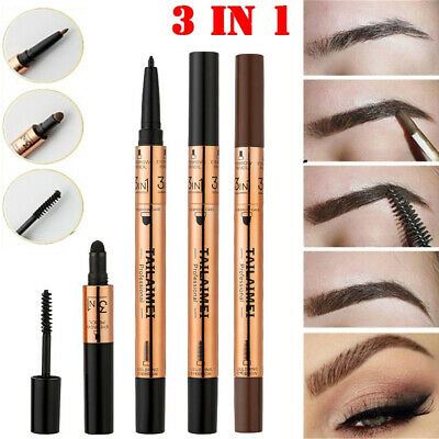 3 In 1 Eyeliner Eyebrow Pencil Set Waterproof Long-lasting Eyebrow Pigment