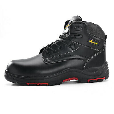 Safetoe Mens Safety Boots Work Shoes Leather Insulated Rubber Sole Memory Foam