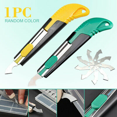 US Acrylic Plastic Sheet Perspex Cutter Hook Cutting Tool W/10 Spare Blades