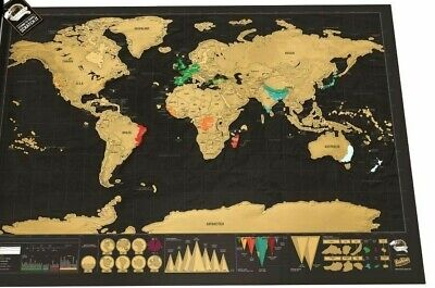 Scratch Map Deluxe by Luckies World Travel Scratch Off Wall Poster