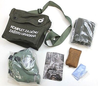 Serbian Army Gas Mask Respirator Kit & Bag Type 2