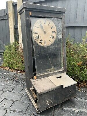 House Clearance Attic Barn Find Project Clocking In Clock In Need Of Restoration