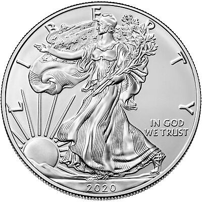 2020 $1 American Silver Eagle 1 oz Brilliant Uncirculated