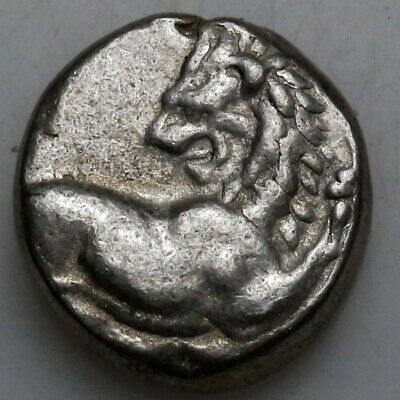 Ancient Greek coin Chersonesos Silver Hemidrachm 400-350 BC Lion