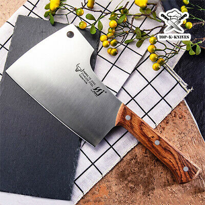Heavy Duty Kitchen Chef Butcher Knife Meat Cleaver Full Tang Chopping Knife