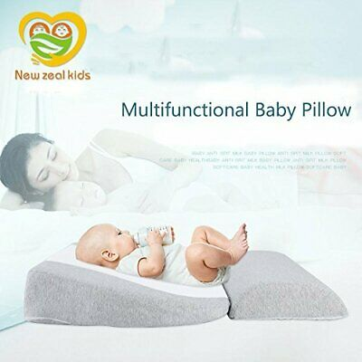 Newzealkids Baby Wedge Pillow Infant Sleep Wedge for Crib Newborn Acid Reflux...