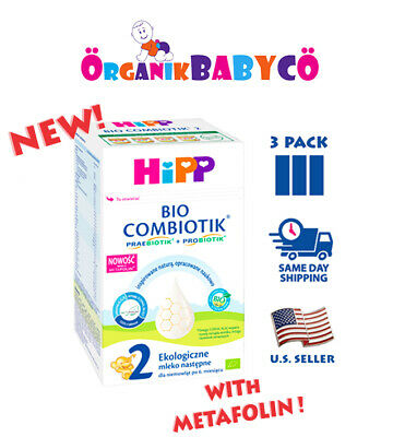 HiPP Stage 2 ORGANIC COMBIOTIK Baby Formula  FROM 6 MONTHS-3 PACK
