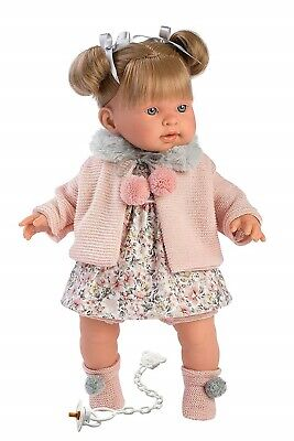 Llorens Doll Kylie Soft Body Crying Toddler Girl 42cm New 42264