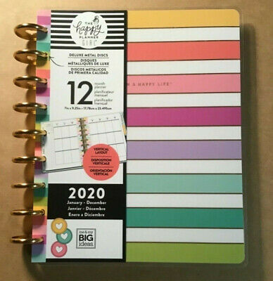 """NEW! 2020 me & my BIG Ideas The Happy Planner """"PLANNER BABE STRIPE"""" Deluxe 12 Mo"""