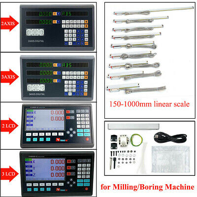 2/3Axis Digtal/LCD DRO Readout Display and Linear Scale for Milling/Boring Lathe