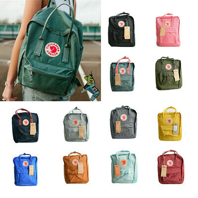 Fjallraven Kanken Backpack School Waterproof 7/16/20L Handbag Sport Travel Bag