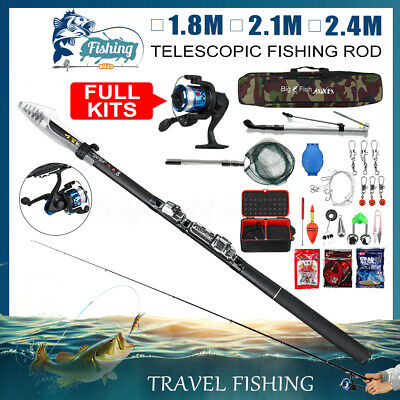 Details about Travel Telescopic Carp Fishing Rod & Reel 3lb Test With Mitchell Rod Holdall Bag