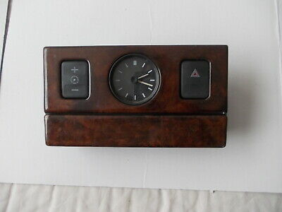 Rover 800 Series Dashboard Time Clock & Switches With Wood Surround