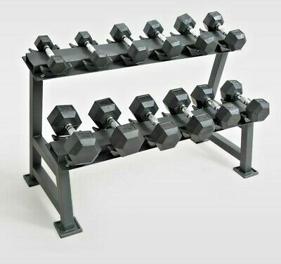Sporteq 2-Tier Rack for Hex Dumbbell Weight Rack Stand Storage 150kg Max Load.