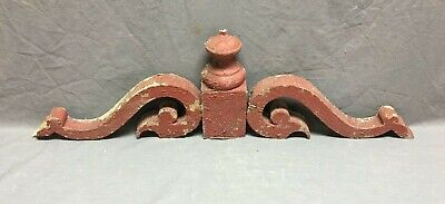 Antique Wood Corbels Finial Crest Brackets Shabby Vtg  Chic Gingerbread 428-19J