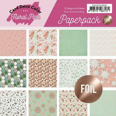 Paperpack - 15,2 x 15,2cm - Yvonne Creations - Floral Pink – 230gr -