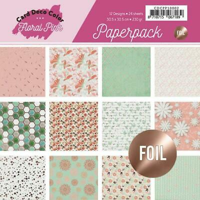 Paperpack - 30,5 x 30,5cm - Yvonne Creations - Floral Pink – 230gr -