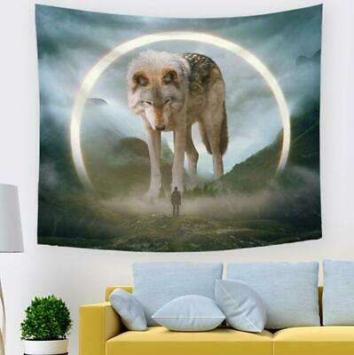 3D Animal Wolf Halo N597 Tapestry Hanging Cloth Hang Wallpaper Mural Photo Amy