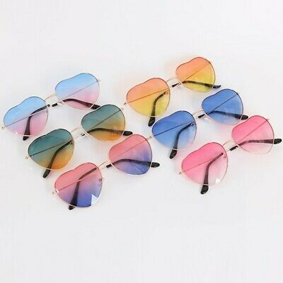 Heart Shaped Sunglasses Metal Women Fashion Rimless Glasses Eyewear Colorful
