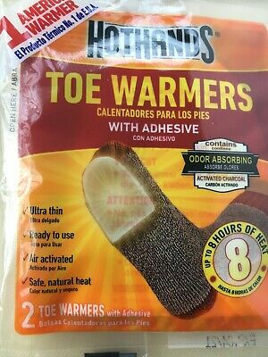 HotHands TOE WARMERS WITH ADHESIVE - Pack of 2 SAFE NATURAL ODORLESS HEAT
