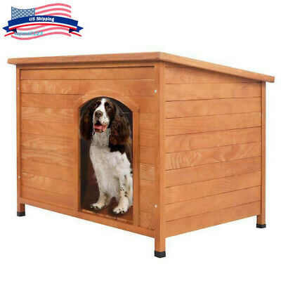 Large Waterproof Outdoor Dog Kennel Winter Pet House Shelter Wooden Animal Hut L