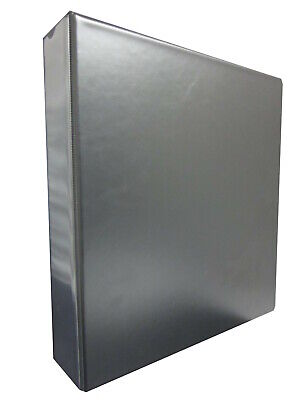 Black Collectors 4 Ring Album / Binder  With Spine Pocket Fits A4 Sleeves